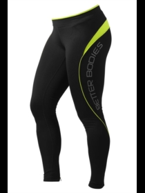 Better Bodies Fitness Long Tights Black/Lime
