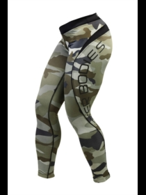Better Bodies Green-Camo Long Tights